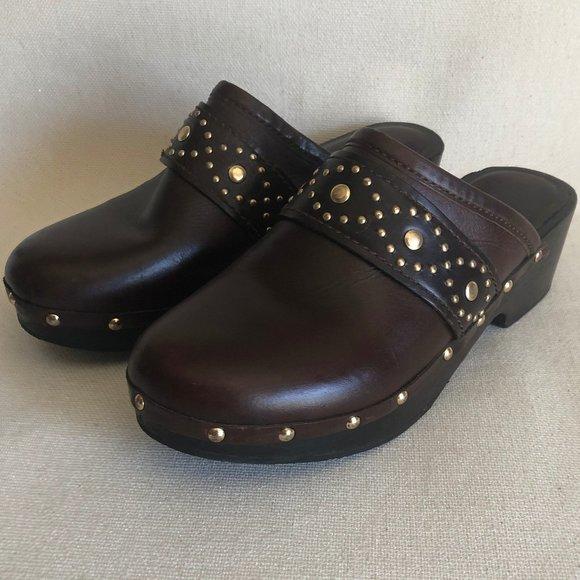 Michael Kors Leather - Wood Mule Clog